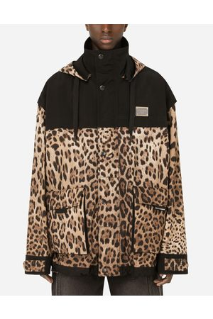 Dolce & Gabbana Coats and Jackets - Mixed-fabric hooded jacket with patch embellishment male XS