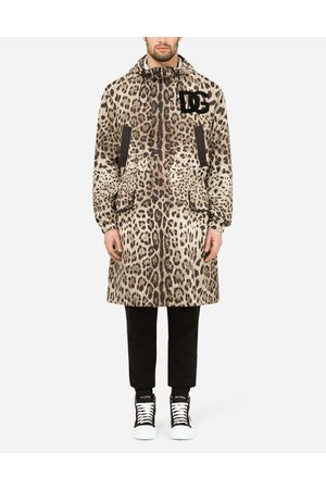 Dolce & Gabbana Coats and Jackets - Hooded nylon parka with leopard print male 44