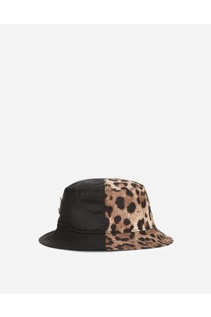Dolce & Gabbana Hats and Gloves - Leopard-print bucket hat with patch embellishment male 57