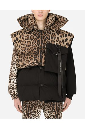 Dolce & Gabbana Men Body Warmers - Coats and Jackets - Quilted gilet with hood and branded plate male XS