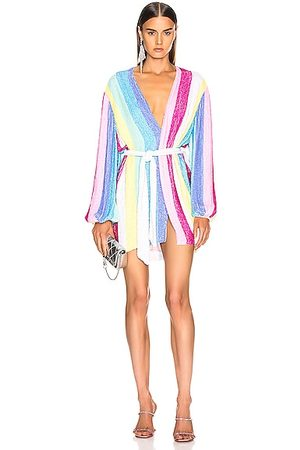 Retrofete Gabrielle Robe Dress in Unicorn Stripes