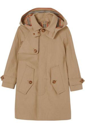 Burberry Kids Cotton Twill Detachable-Hood Car Coat (3-14 Years)