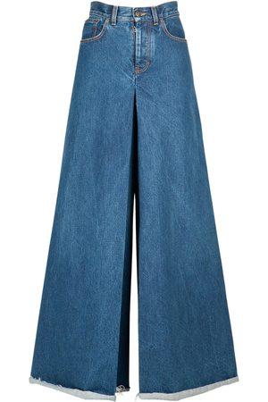 Maison Margiela Cotton Denim Maxi Pants