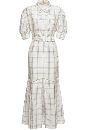 BROCK COLLECTION Women Dresses - Belted Linen & Silk Dress