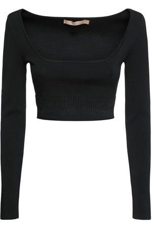 BROCK COLLECTION Women Crop Tops - Viscose Blend Knit Crop Top