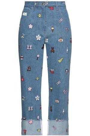 GCDS Women Trousers - DENIM - Denim trousers