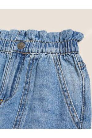 Marks & Spencer Girls Relaxed Denim Jeans (2-7 Yrs) - 2-3 Y, Denim