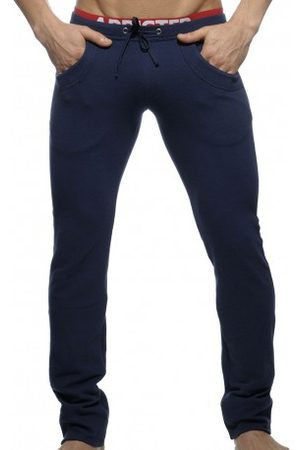 Addicted Men Trousers - Combined Waistband Pants - Navy XS