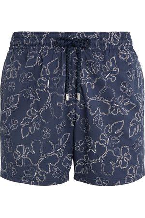 Vilebrequin Men Swim Shorts - Leaf Outline Print Swim Shorts