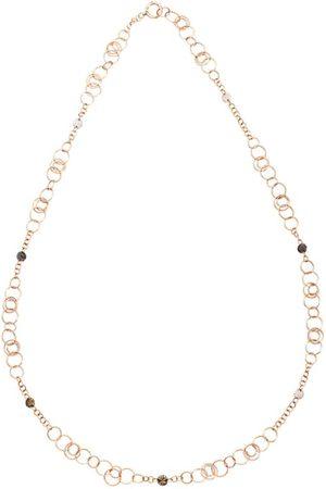 Pomellato Women Necklaces - Rose Gold and Diamond Sabbia Necklace