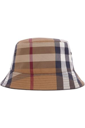Burberry Men Hats - Cotton Check Canvas Bucket Hat