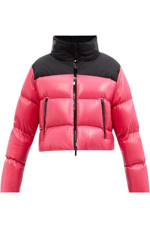 Moncler Jasione Cropped Quilted Down Jacket - Womens - Fuchsia