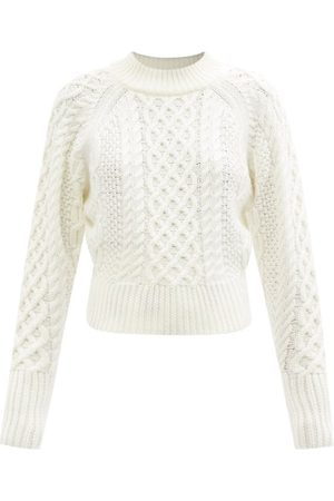 EMILIA WICKSTEAD Emory Cable-knit Wool Sweater - Womens - Ivory