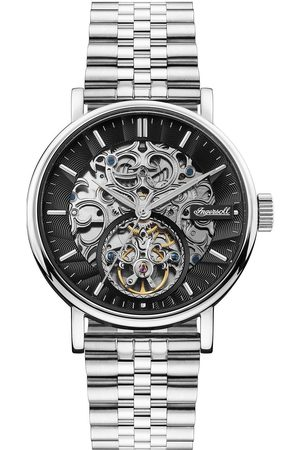 INGERSOLL 1892 Charles Black And Detail Skeleton Automatic Dial Stainless Steel Bracelet Mens Watch