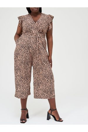 Ax Paris Curve Animal Culotte Jumpsuit
