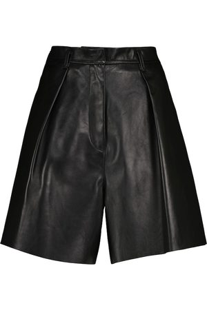 PETAR PETROV Gisa high-rise wide leather shorts