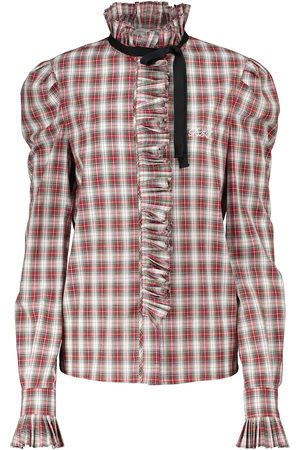 Serafini Checked cotton blouse