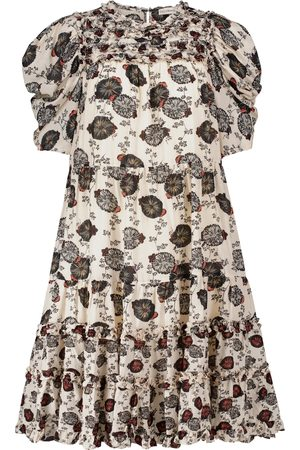ULLA JOHNSON Cassian floral cotton-blend midi dress