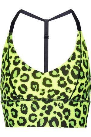 Adam Selman Sport Leopard-print triangle sports bra