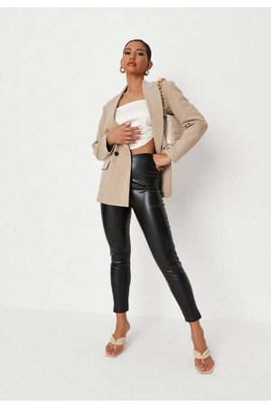 Missguided Women Trousers - Basic Faux Leather Leggings