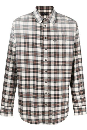 Dsquared2 Distressed effect flannel shirt - Neutrals