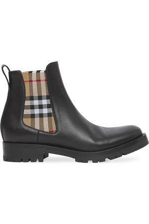 Burberry Chelsea check-panel boots