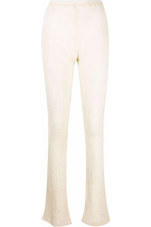 Ottolinger Women Skinny Trousers - Musslin slim-cut trousers - Neutrals