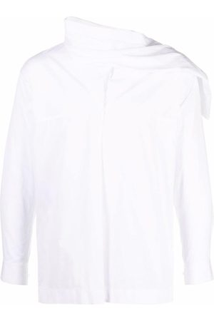 Issey Miyake Pre-Owned 2000s asymmetric neck shirt