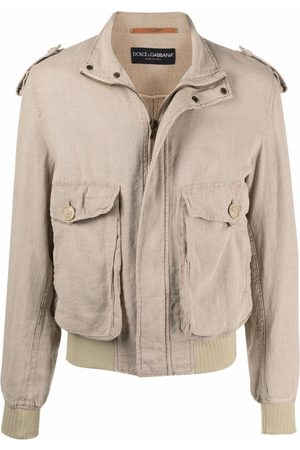 Dolce & Gabbana Pre-Owned 1990s flap pockets bomber jacket - Neutrals