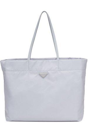 Prada Women Handbags - Re-Nylon logo-plaque tote bag