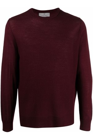CANALI Ribbed-knit crew neck sweater