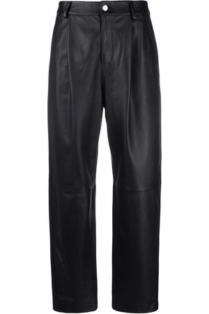 RED Valentino High-waist leather trousers
