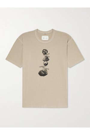 Reigning Champ Ryan Willms Garment-Dyed Printed Cotton-Blend Jersey T-Shirt