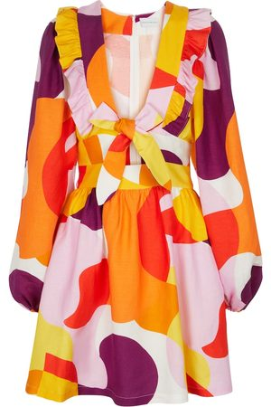 Rebecca Vallance Women Printed Dresses - Del Rio printed linen-blend minidress