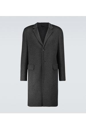 Prada Men Coats - Double-cashmere overcoat