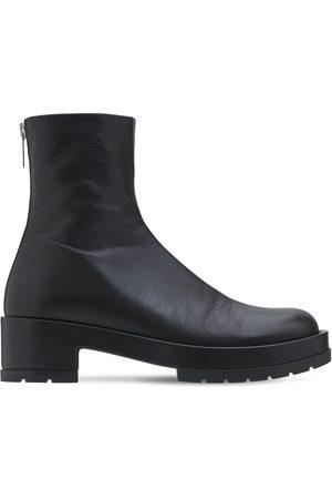 SAPIO Leather Zip Boots