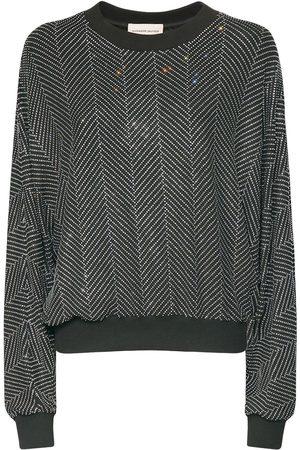 ALEXANDRE VAUTHIER Micro Crystal Chevron Jersey Sweatshirt