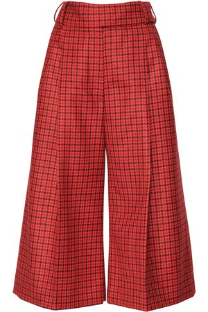 ALEXANDRE VAUTHIER Women Trousers - Cropped Check Wool Pants