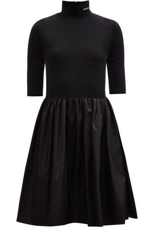 Prada Logo-jacquard Re-nylon Dress - Womens