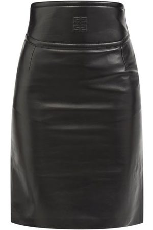 Givenchy Women Pencil Skirts - 4g-embossed Cutout Leather Pencil Skirt - Womens