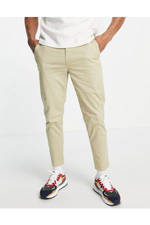 New Look Tapered chino in stone-Neutral
