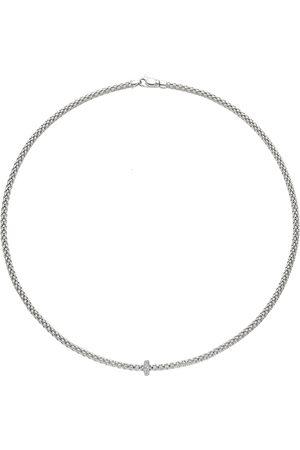 FOPE Women Necklaces - 18ct White Gold 0.18ct Diamond Prima Necklace