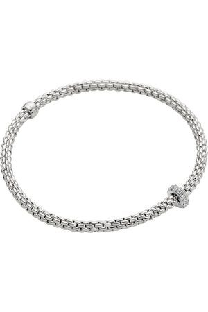 FOPE Flex'it 18ct White Gold 0.18ct Diamond Prima Bracelet