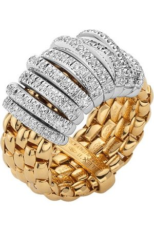 FOPE 18ct Yellow & White Gold Panorama Pave Ring
