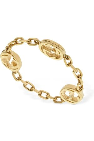 Gucci 18kt Interlocking G Chain Ring