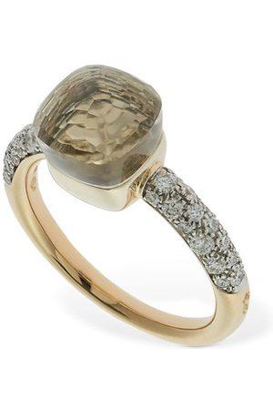 Pomellato Women Rings - Nudo Petit 18kt Ring W/ Topaz & Diamond