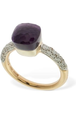 Pomellato Nudo Petit 18kt, Amethyst & Diamond Ring