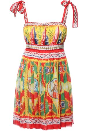 Dolce & Gabbana Women Printed Dresses - Carretto Print Silk Chiffon Mini Dress