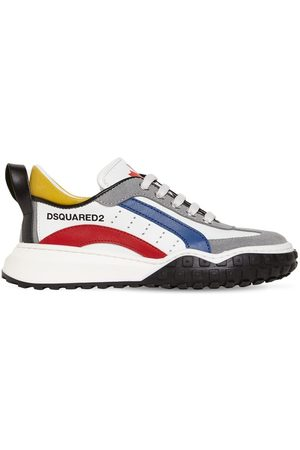 Dsquared2 Logo Lace-up Leather & Suede Sneakers