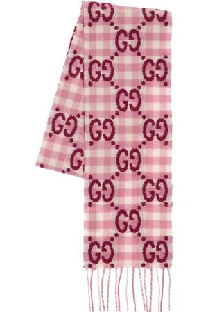 Gucci Gg Logo Wool Blend Scarf